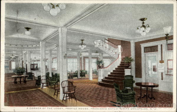 A Corner of the Lobby, Profile House, Franconia Notch White Mountains New Hampshire