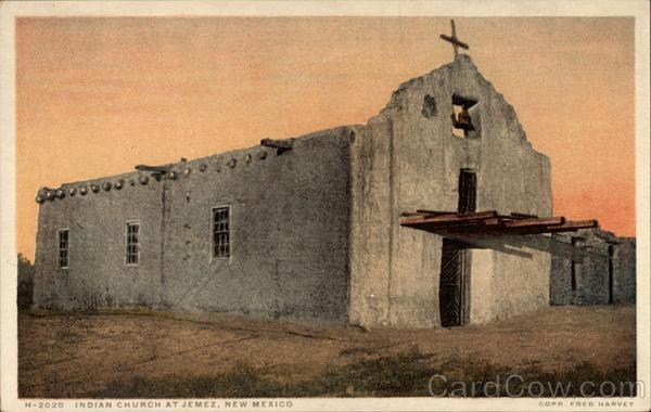 Indian Church at The Pueblo Jemez New Mexico