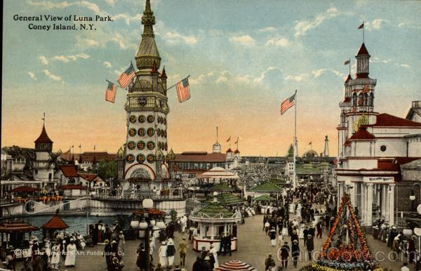General view of Luna Park Coney Island New York