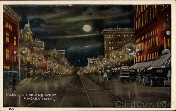 Falls Street Looking West Niagara Falls New York