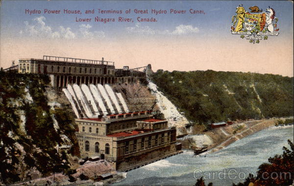 Hydro Power House, and Terminus of Great Hydro Power Canal Lower Niagara River Canada