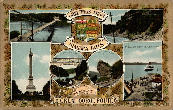Greetings from Niagara Falls Great Gorge Route New York