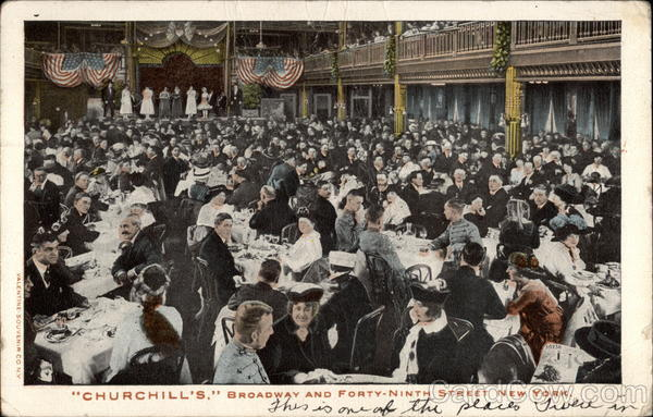 Churchill's. Broadway and Forty-ninth Street New York