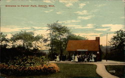 Entrance to Palmer Park Postcard