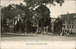 View of Court Square and Monument Postcard