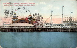 The Pier, showing Auditorium, Ferris Wheel and Ship Cafe