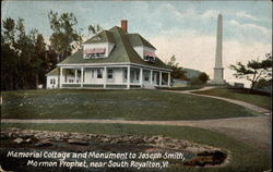 Memorial Cottage and Monument to Joseph Smith, Mormon Prophet