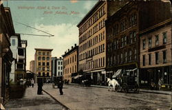 Wellington Hotel and State Street Postcard