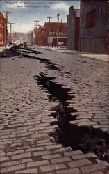Result of earthquake in street
