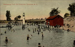 Swimming Pool, Old Reservoir, Syracuse, N.Y Postcard