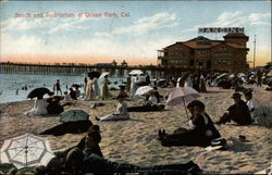 Beach and Auditorium Postcard