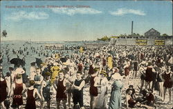 Scene at North Shore Bathing Beach Postcard