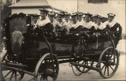 A Wagonful of Ladies Ready for the Parade