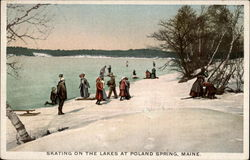 Skating on the Lakes at Poland Spring, Maine