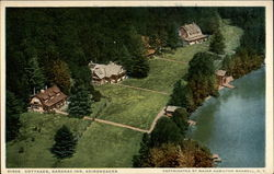 Cottages, Saranac Inn, Adirondacks Postcard