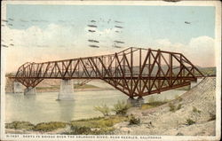 Sante Fe Bridge Over The Colorado River