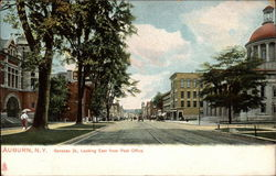 Genesee St., Looking East from Post Office