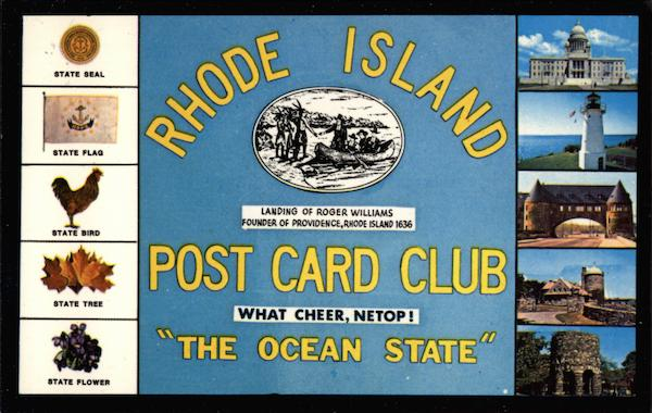 Rhode Island - The Ocean State Providence Post Card Clubs & Collecting
