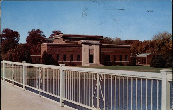 Fine Arts Building, overlooking the Iowa River, State University Iowa City