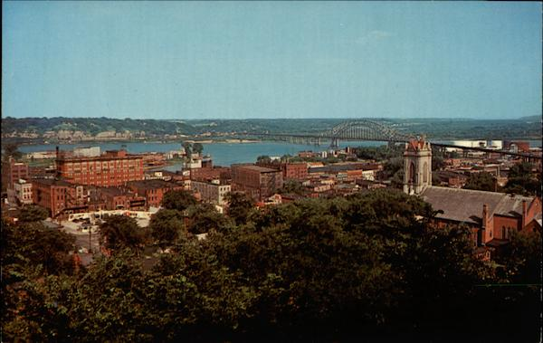 A View of Dubuque Taken From The Upper Landing of the Cable Car Railway Iowa