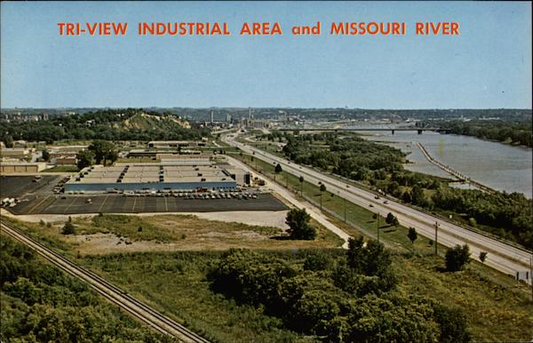 Tri-View Industrial Area and Missouri River Sioux City Iowa