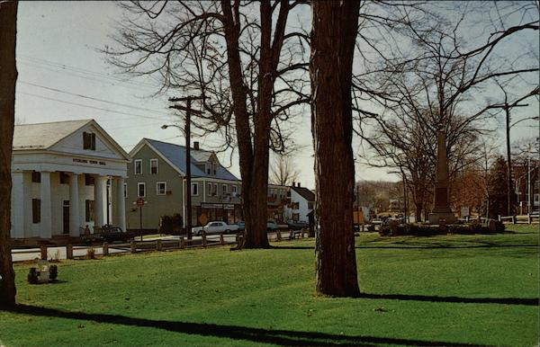 Town Hall and Common Sterling Massachusetts