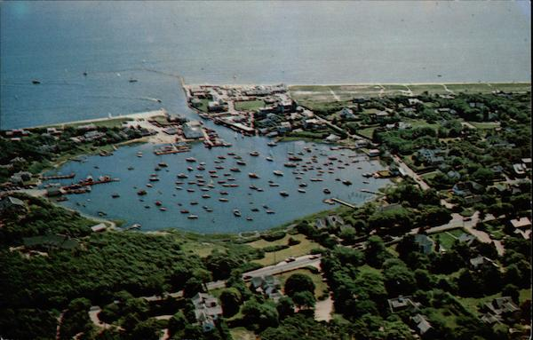 Aerial View of Wychmere Harbor, Harwich Port Cape Cod Massachusetts