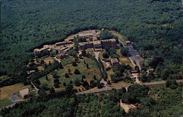 Aerial View of Regis College Weston Massachusetts Stan Trzoniec