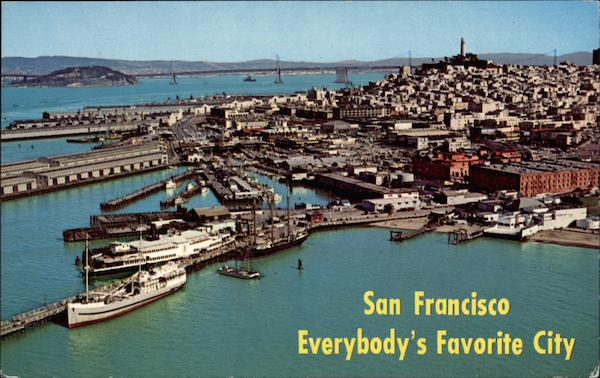 Aerial View of San Francisco-Everybody's Favorite City California