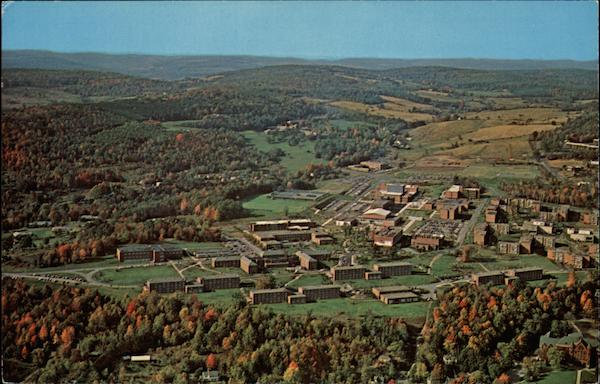 Aerial View of State University College in New York Oneonta