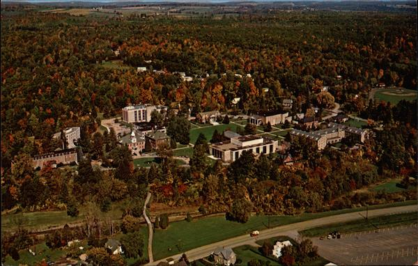 Aerial View Houghton College Campus New York