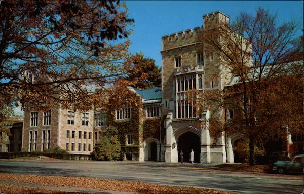 Taylor Hall and main entrance, Vassar College Poughkeepsie New York