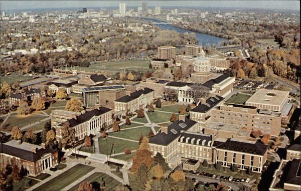 Aerial View of the River Campus Rochester New York