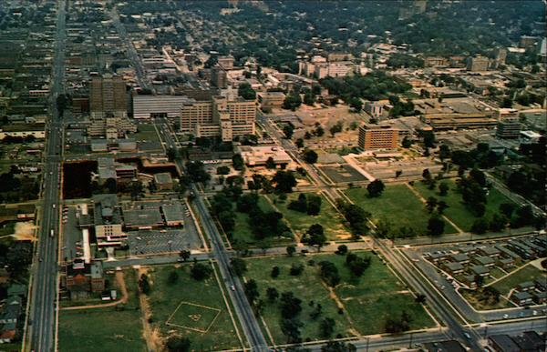 Aerial View of the University of Alabama Medical Center Birmingham