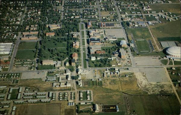 Aerial View of Montana State College Campus Bozeman