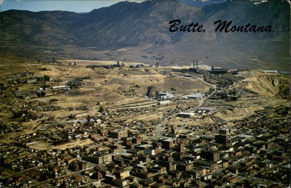 """At T Billings Mt >> """"The Richest Hill on Earth"""" - Aerial View Butte, MT"""