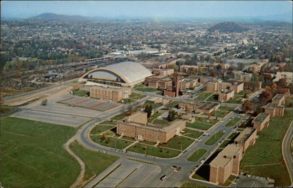 Aerial View of East Tennessee State University Johnson City