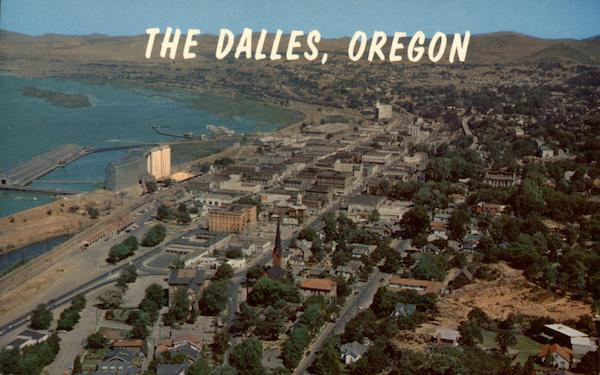 Aerial View looking Southwest The Dalles Oregon