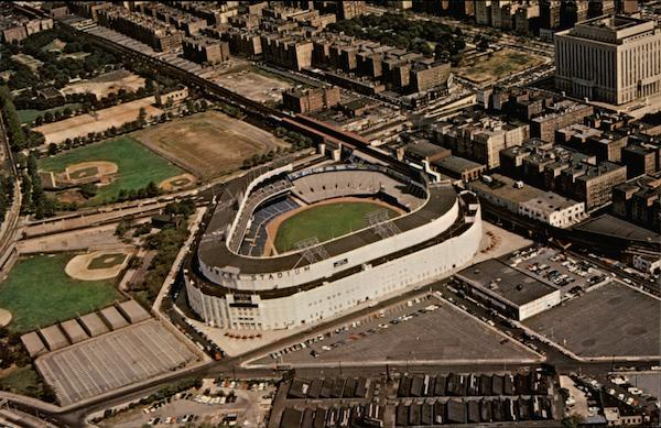 Air View of Yankee Stadium New York