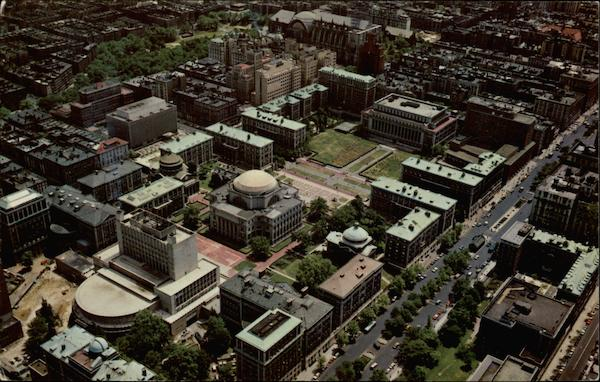 Aerial View of Columbia University Section New York