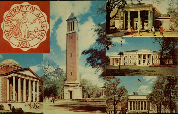 Views of the University of Alabama at Tuscaloosa