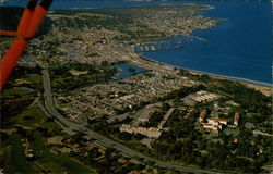 "Arial view of Monterey, ""City of History"""
