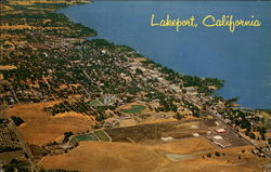 Arial view of Lakeport Postcard