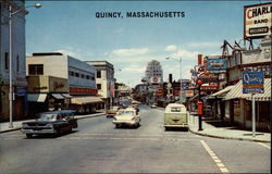 View of the Qunicy, Massachusetts Business District
