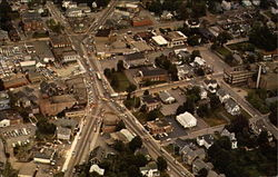 Aerial view of the Town of Stoughton, Massachusetts