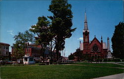 Downtown Natick, with Church