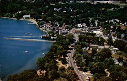 Business section and lake front of Skaneateles, N.Y Postcard