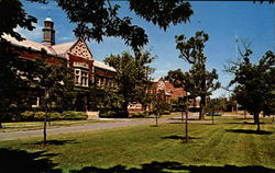 A General Campus View of Impressive Geneseo State College Postcard