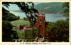 Utility Building With Hudson River in Background, U.S. Military Academy