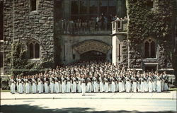 Cadets in front of Washington Hall